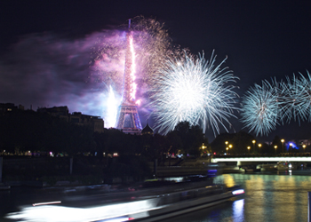 Bastille Day fireworks dinner cruise