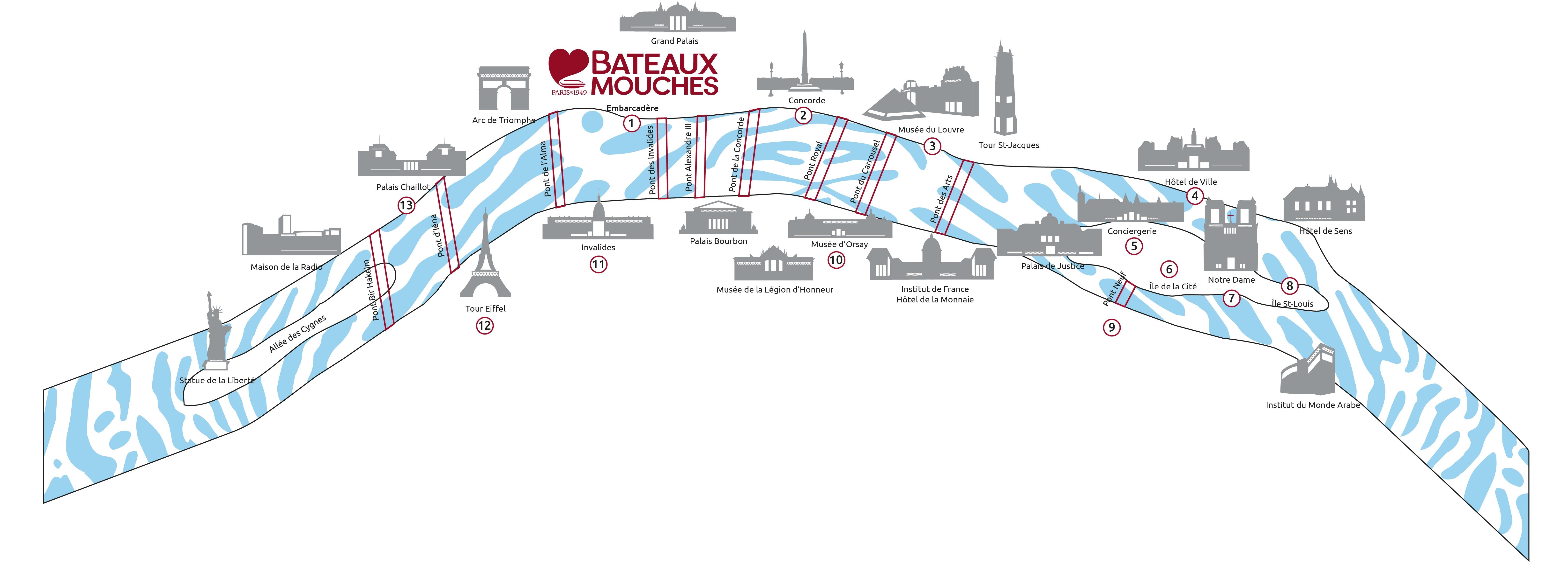Célèbre Cruise times, duration, prices and routes | Bateaux Mouches® TM63