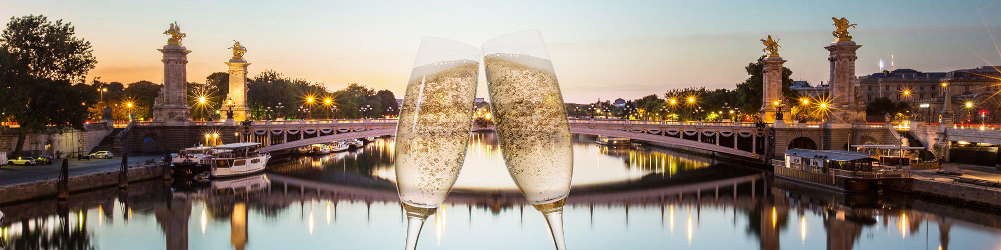 Sparkling Champagne cruise in Paris
